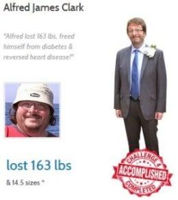 Alfred James Clark verlor unglaubliche 75 Kilo mit Proactol XS