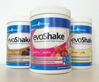 """Der """"Evo Shake"""" - gibt es in drei verschiedenen Geschmacks"""
