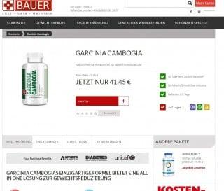 Garcinia Cambogia vom BauerNutriton - nur online erhätlich