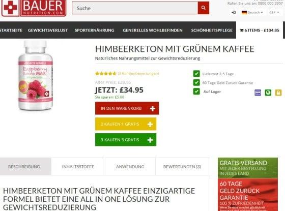 Raspberry Ketone MAX kann man jetzt günstig, schnell und sicher online kaufen