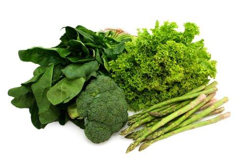 Brokkoli und grünes Gemüse